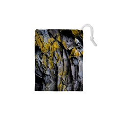 Grey Yellow Stone  Drawstring Pouches (XS)