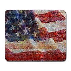Grunge United State Of Art Flag Large Mousepads