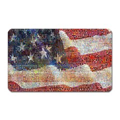 Grunge United State Of Art Flag Magnet (Rectangular)