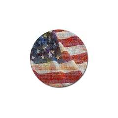 Grunge United State Of Art Flag Golf Ball Marker (4 pack)