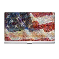 Grunge United State Of Art Flag Business Card Holders