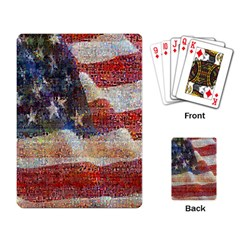 Grunge United State Of Art Flag Playing Card