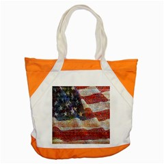 Grunge United State Of Art Flag Accent Tote Bag