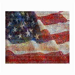 Grunge United State Of Art Flag Small Glasses Cloth (2 Side)