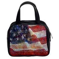 Grunge United State Of Art Flag Classic Handbags (2 Sides)