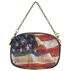Grunge United State Of Art Flag Chain Purses (one Side)