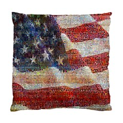 Grunge United State Of Art Flag Standard Cushion Case (One Side)
