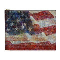 Grunge United State Of Art Flag Cosmetic Bag (XL)