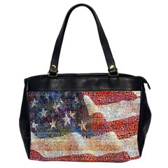 Grunge United State Of Art Flag Office Handbags (2 Sides)