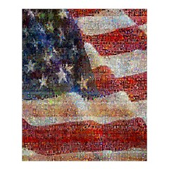 Grunge United State Of Art Flag Shower Curtain 60  x 72  (Medium)