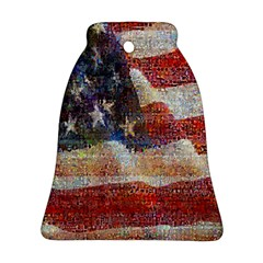 Grunge United State Of Art Flag Bell Ornament (Two Sides)