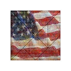 Grunge United State Of Art Flag Acrylic Tangram Puzzle (4  X 4 )