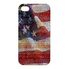 Grunge United State Of Art Flag Apple iPhone 4/4S Premium Hardshell Case