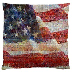 Grunge United State Of Art Flag Large Cushion Case (one Side)