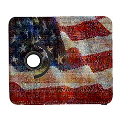 Grunge United State Of Art Flag Galaxy S3 (flip/folio)
