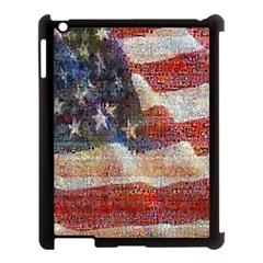 Grunge United State Of Art Flag Apple iPad 3/4 Case (Black)