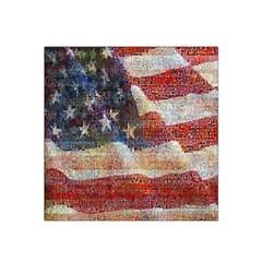 Grunge United State Of Art Flag Satin Bandana Scarf