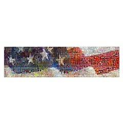 Grunge United State Of Art Flag Satin Scarf (Oblong)