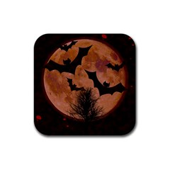 Halloween Card Scrapbook Page Rubber Square Coaster (4 pack)