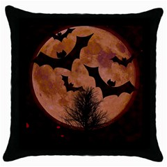 Halloween Card Scrapbook Page Throw Pillow Case (black)