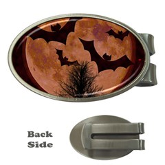 Halloween Card Scrapbook Page Money Clips (Oval)