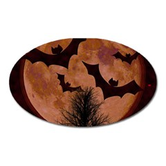 Halloween Card Scrapbook Page Oval Magnet