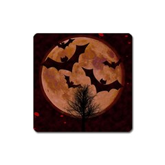 Halloween Card Scrapbook Page Square Magnet