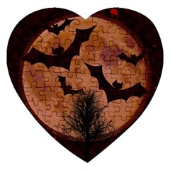 Halloween Card Scrapbook Page Jigsaw Puzzle (Heart)