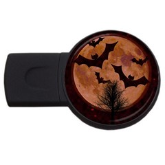 Halloween Card Scrapbook Page USB Flash Drive Round (4 GB)