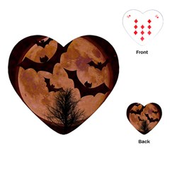 Halloween Card Scrapbook Page Playing Cards (Heart)