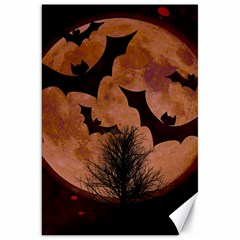 Halloween Card Scrapbook Page Canvas 20  X 30