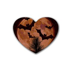 Halloween Card Scrapbook Page Heart Coaster (4 pack)