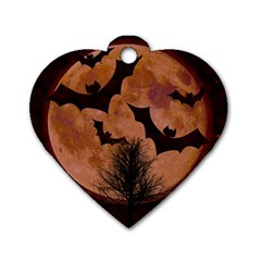Halloween Card Scrapbook Page Dog Tag Heart (two Sides)