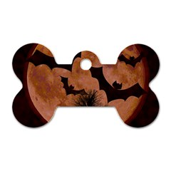 Halloween Card Scrapbook Page Dog Tag Bone (Two Sides)