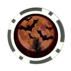Halloween Card Scrapbook Page Poker Chip Card Guard