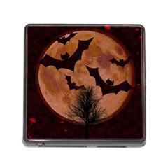 Halloween Card Scrapbook Page Memory Card Reader (Square)