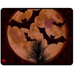 Halloween Card Scrapbook Page Fleece Blanket (Medium)
