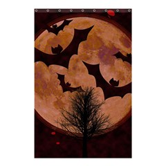 Halloween Card Scrapbook Page Shower Curtain 48  X 72  (small)