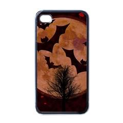 Halloween Card Scrapbook Page Apple iPhone 4 Case (Black)