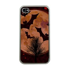 Halloween Card Scrapbook Page Apple Iphone 4 Case (clear)