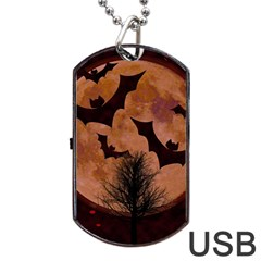 Halloween Card Scrapbook Page Dog Tag Usb Flash (two Sides)