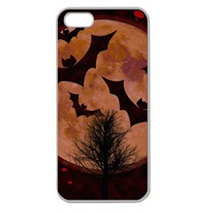 Halloween Card Scrapbook Page Apple Seamless Iphone 5 Case (clear)