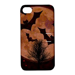 Halloween Card Scrapbook Page Apple Iphone 4/4s Hardshell Case With Stand
