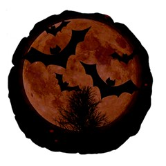 Halloween Card Scrapbook Page Large 18  Premium Flano Round Cushions