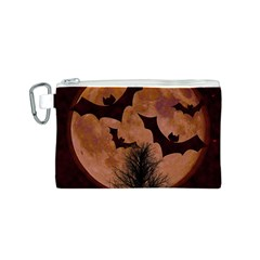 Halloween Card Scrapbook Page Canvas Cosmetic Bag (s)
