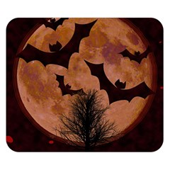 Halloween Card Scrapbook Page Double Sided Flano Blanket (Small)