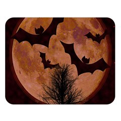 Halloween Card Scrapbook Page Double Sided Flano Blanket (Large)