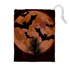 Halloween Card Scrapbook Page Drawstring Pouches (Extra Large)