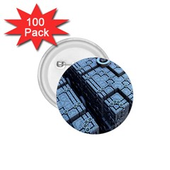 Grid Maths Geometry Design Pattern 1 75  Buttons (100 Pack)