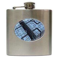 Grid Maths Geometry Design Pattern Hip Flask (6 oz)